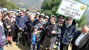 Yeşil Deniz ekibi İzmirde hatıra ormanı oluşturuyor