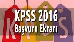 2016 KPSS başvuruları ne zaman bitiyor? KPSS başvuru ekranı