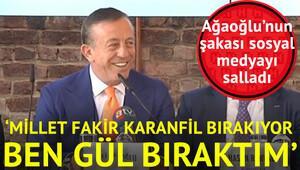 Ağaoğlu'nun şakası sosyal medyayı salladı
