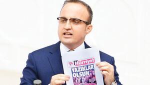 AK Partili Bülent Turan Hürriyet'i gösterdi, HDP'yi kınadı: Bunlar mı montaj