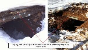 Tunceli'de PKK'ya ait 11 depo ele geçirildi