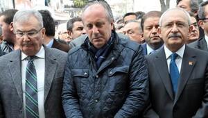 Muharrem İnce'nin babasının cenazesinde Kılıçdaroğlu ve Baykal birlikte saf tuttu