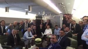 Erdoğan, Türkiye-Avusturya maçını uçakta izledi