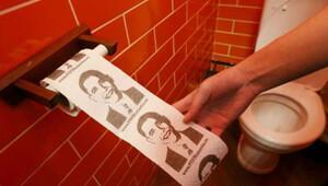 Obama'yı tuvalet kağıdı yaptılar!