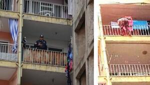 Polisi kapıda görünce biri 6'ıncı kattan atladı