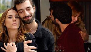 İlker Kaleli'den Burçin Terzioğlu'na öpücüklü karşılama