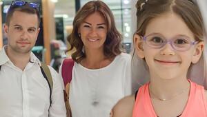 Pınar Altuğ, eşi ve kızıyla alışverişte