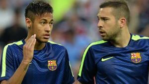 Neymar'dan Alba'ya şok küfür!