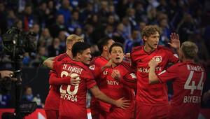 Leverkusen altı dakikada üç atıp işi bitirdi