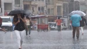 Meteoroloji saat verdi: Yağmur başladı