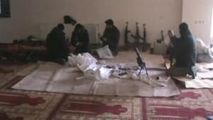 Yüksekova'da şok görüntüler! PKK'lılar cami içinde bomba hazırladı