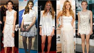 Beyaz elbiselerle hangi aksesuarlar kullanılır?