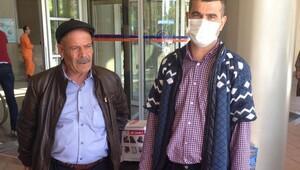 Çift kol nakli yapılan Mustafa Sağır hastaneden ilk kez ayrıldı