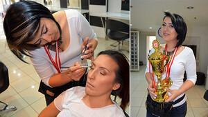 Türkiye makyaj şampiyonu Çanakkale'den çıktı