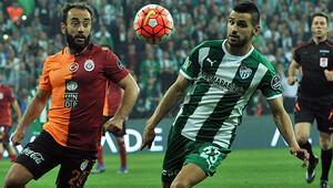 Bursaspor 1-1 Galatasaray maç özeti