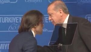 Cumhurbaşkanı Erdoğan'dan sunucuya uyarı