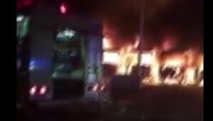 Bin Ladin'in işçileri Mekke'de 9 otobüsü yaktı