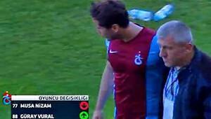Trabzonsporlu futbolcu Musa Nizam hastaneye kaldırıldı!