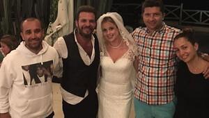 Tolga Karel ve Sarah Scotti çifti Dominik'te düğün yaptı