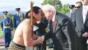 İsmail Kahraman'a Maori selamı