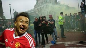 Manchester United'ın yıldızı Lingard saldırıyı gülerek kameraya aldı!