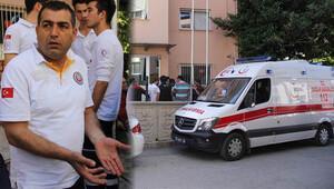 112 ekibi okulda saldırıya uğradı