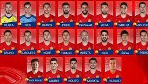İspanya'nın EURO 2016 kadrosunda sürpriz
