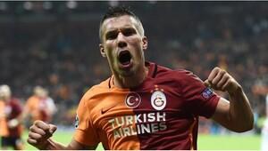 Galatasaray'a Podolski'den müjdeli haber
