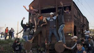 İdomeni kampında polis ve sığınmacılar arasında arbede