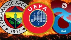 UEFA'dan Fenerbahçe ve Trabzonspor'a kısıtlama