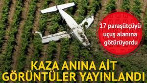 Uçağın kaza anına ait görüntüleri yayınlandı
