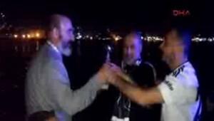Beşiktaşlılar, F.Bahçe için denize kupa attılar