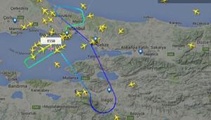 Elektrik yüklü bulutlar THY uçağını geri döndürdü