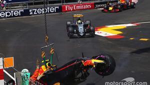 Monaco'da genç pilot için şanssız an