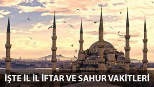 İstanbul, Ankara, İzmir İftar ve Sahur vakitleri - İl il Ramazan 2016 İmsakiye