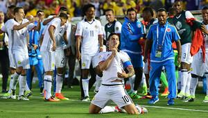 Kolombiya, James Rodriguez'le çeyrek finalde