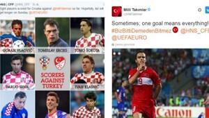 Türkiye'den Hırvatlara ilk gol Twitter'dan!