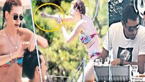 Sinem Kobal'dan şaşırtan el hareketi