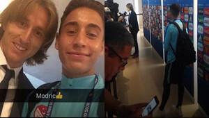Emre Mor, Modric'i selfie için böyle bekledi