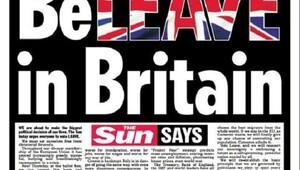 İngiltere'nin AB'den ayrılma kampanyasına Sun'dan destek