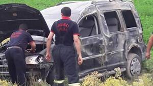 12 gün önce kaza yapan dede torun yine kazada yaralandı