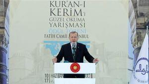 Cumhurbaşkanı Erdoğan hafızlık yarışması töreninde konuştu