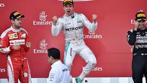 Azerbaycan'da zafer Rosberg'in