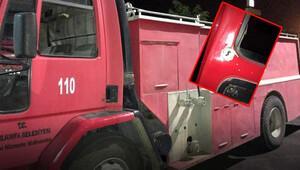 Yangın söndürmeye gelen itfaiye ekibine silahlı saldırı