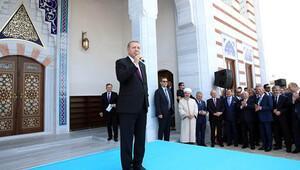 Erdoğan camiyi açtı, adını açıkladı