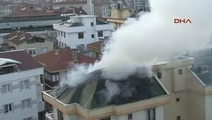 Kartal'da panik yaratan yangın