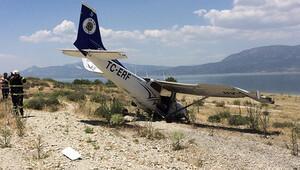 Burdur'da eğitim uçağından zorunlu iniş