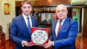 Aydın Aliyev Türk işadamlarıyla görüştü