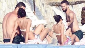 Arda Turan sevgilisi Aslıhan Doğan'la tatilde