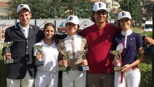 Atlıspor'un binicileri 5 şampiyonluk ile döndü